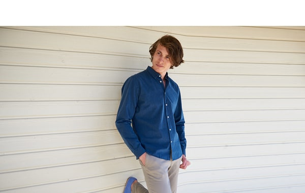 Chemise chambray coupe